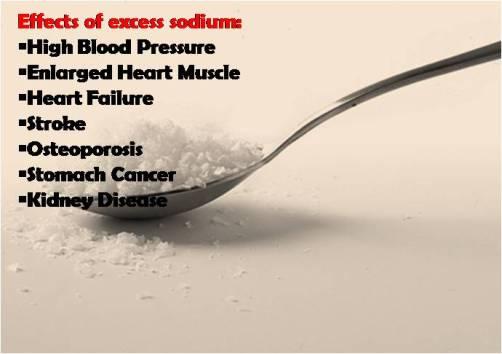 Reduce sodium intake